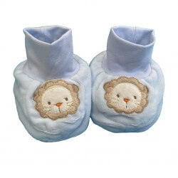 Blue Lion Baby Booties