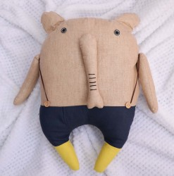 Elephant Soft Toy Wearing Pants
