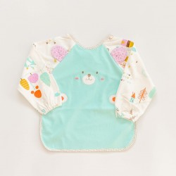 Teddy Smock Bib - Blue