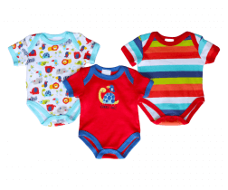 Short Sleeve Baby Bodysuit 3 pack - Turtle