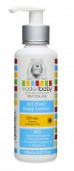 Baby Lotion - Organic Citrus - NZ Made