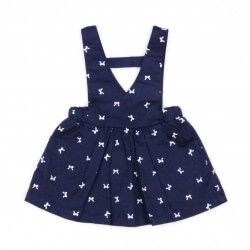 Pinafore Navy Bow Dress