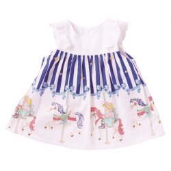 Merry-Go-Round Ruffle Sleeve Dress
