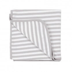 Woolbabe Swaddle Blanket Merino Cotton | Pebble