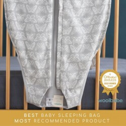 Woolbabe Sleeping Bag Merino 3 Seasons | Butterfly