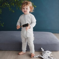 Woolbabe Merino Zip-Up Pyjamas | Pebble