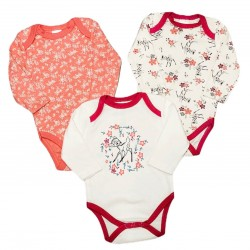 Long Sleeve Bodysuit 3 pack - Bambi
