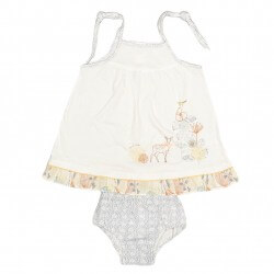 Two Piece Bambi Dress & Nappy Cover