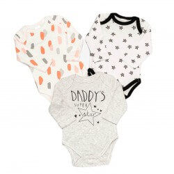 Long Sleeve Bodysuit 3 pack - Daddy's Star
