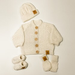 Baby Merino Full Set White - NZ Made