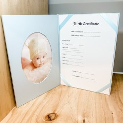 Birth Certificate Blue A4 Holder