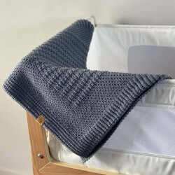 Nik Nax Merino Travel Baby Blanket | Grey | NZ Made