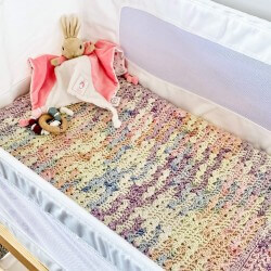 Nik Nax Crocheted Cotton Mix Blanket | Rainbow | NZ Made