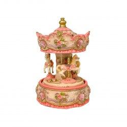 Musical Horse Carousel | Bright Pink